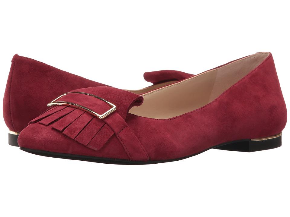 Jones New York - Steff (Burgundy Kid Suede) Women's Flat Shoes