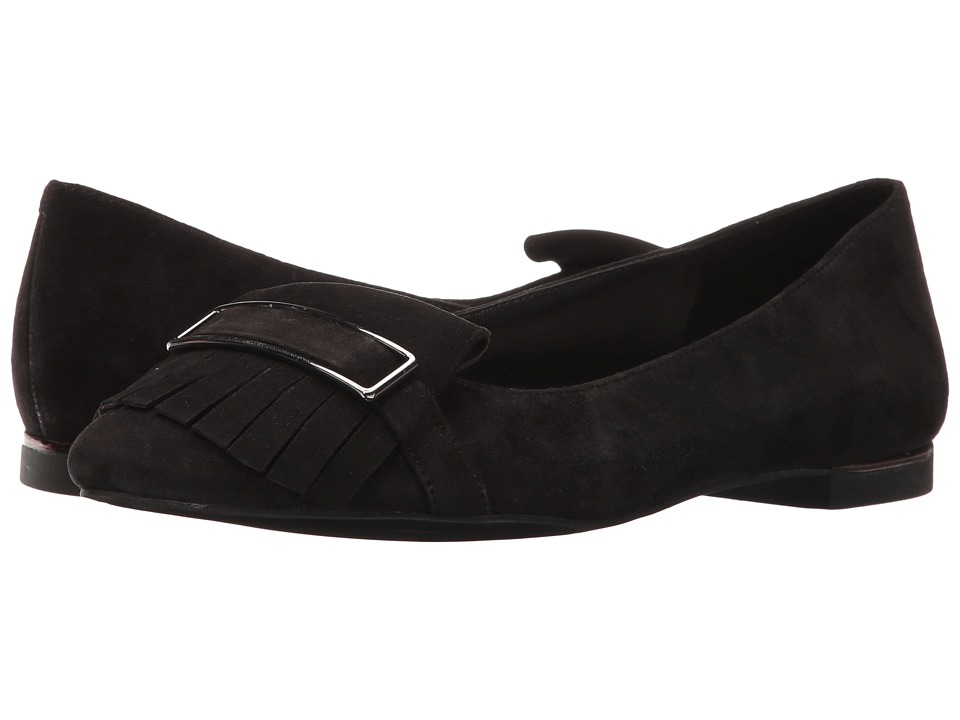 Jones New York - Steff (Black Kid Suede) Women's Flat Shoes