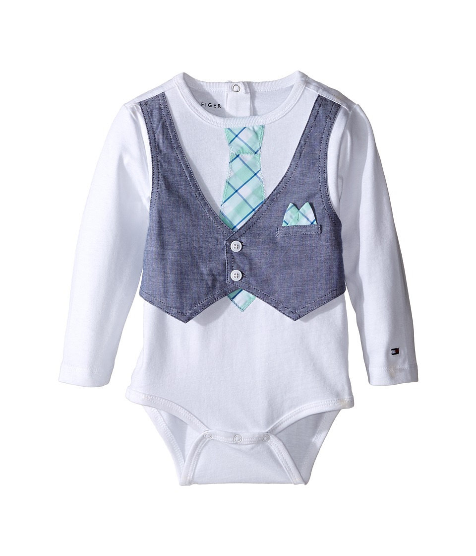 Tommy Hilfiger Kids - Randy Vest One-Piece (Infant) (White) Boy's Jumpsuit & Rompers One Piece