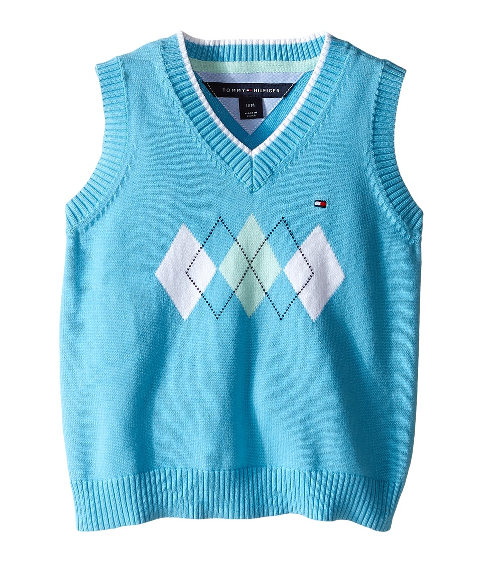Tommy Hilfiger Kids - Henry Sweater Vest (Infant) (Zen Blue) Boy's Vest