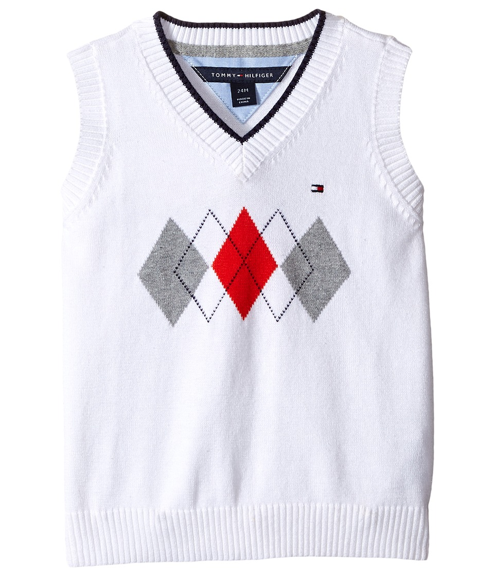 Tommy Hilfiger Kids - Henry Sweater Vest (Infant) (White) Boy's Vest