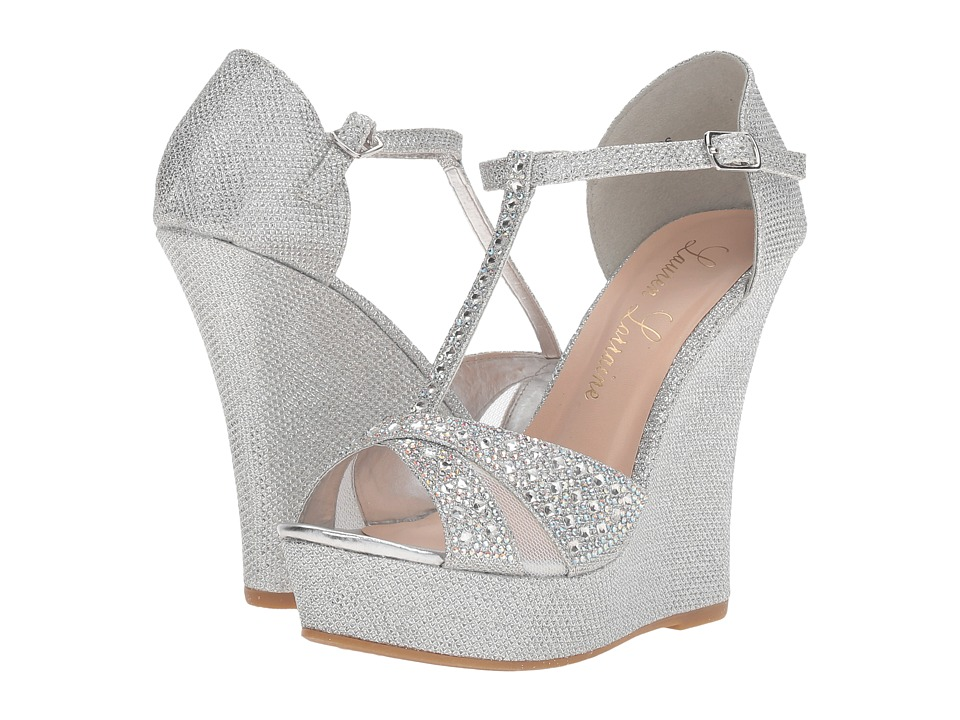 Lauren Lorraine - Ness (Silver) Women's Wedge Shoes