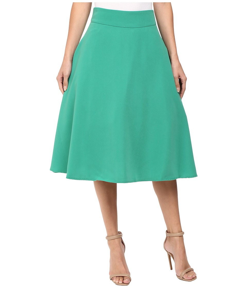 Unique Vintage - High Waist Vivien Swing Skirt (Green) Women's Skirt