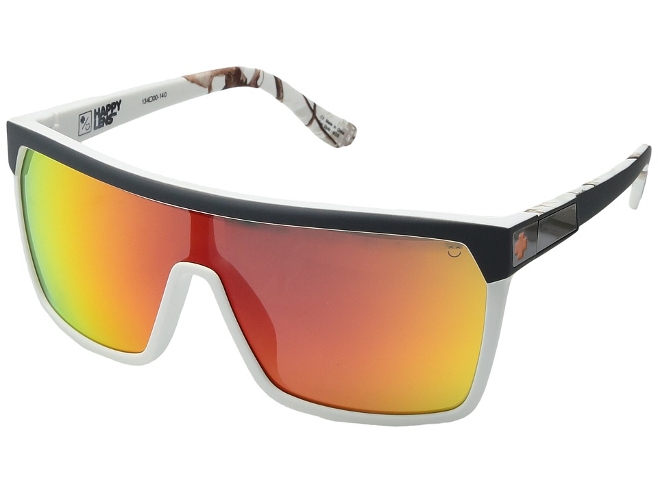 Spy Optic - Flynn (Soft Matte Decoy Realtree/Happy Gray Green w/ Red Spectra) Sport Sunglasses