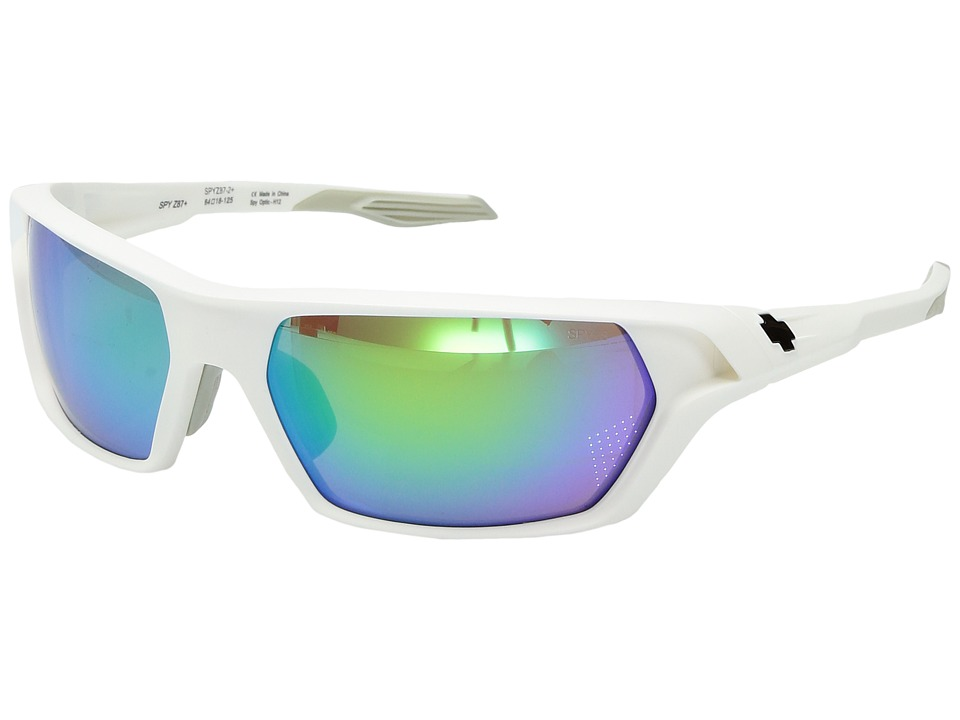 Spy Optic - Quanta (Matte White Ansi Rx Kiewit/Bronze w/ Green Spectra) Sport Sunglasses
