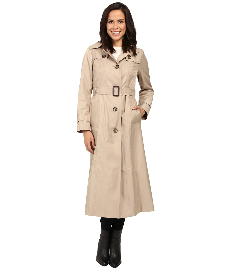 London Fog - Hooded Single Breasted Trench (Toffee) Women's Coat