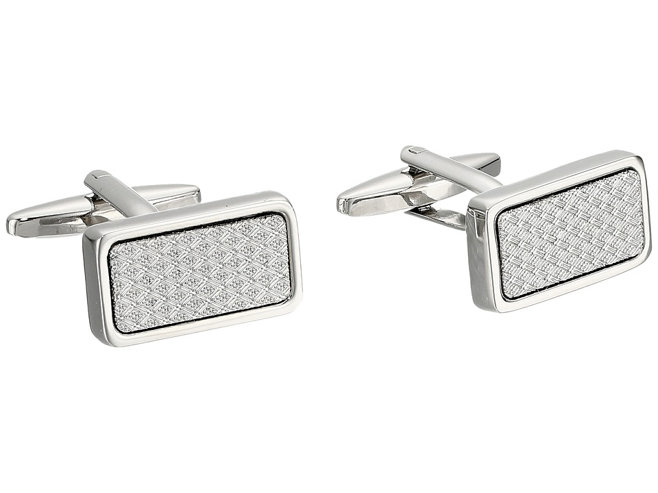 Stacy Adams - Cuff Link - Silver with Textured Inlay (Silver) Cuff Links