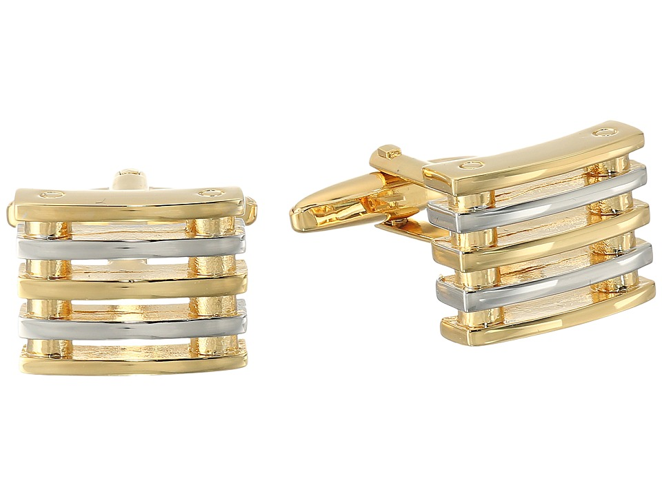 Stacy Adams - Cuff Link Square with Two-Tone Bars (Two-Tone) Cuff Links