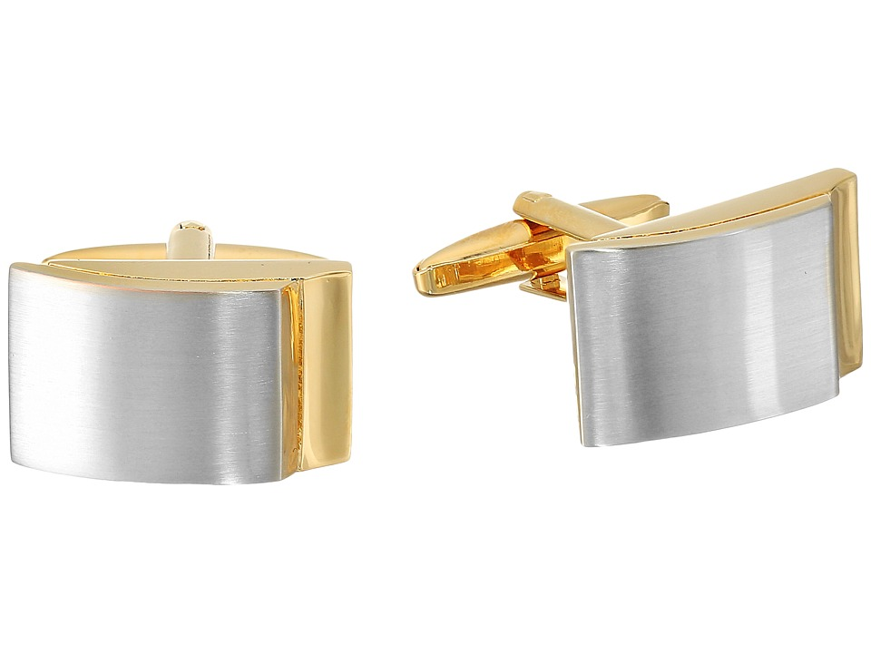 Stacy Adams - Cuff Link Rounded Rectangle Two-Tone (Two-Tone) Cuff Links