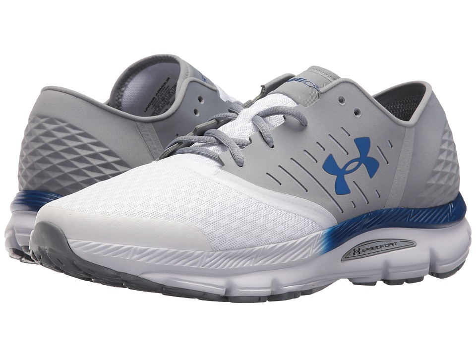 Under Armour - UA Solstice (Steel/White/Team Royal) Men's Shoes