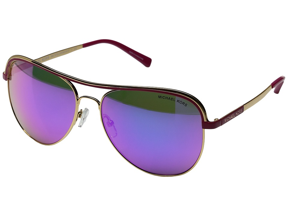 Michael Kors - 0MK1012 (Gold/Fuchsia) Fashion Sunglasses