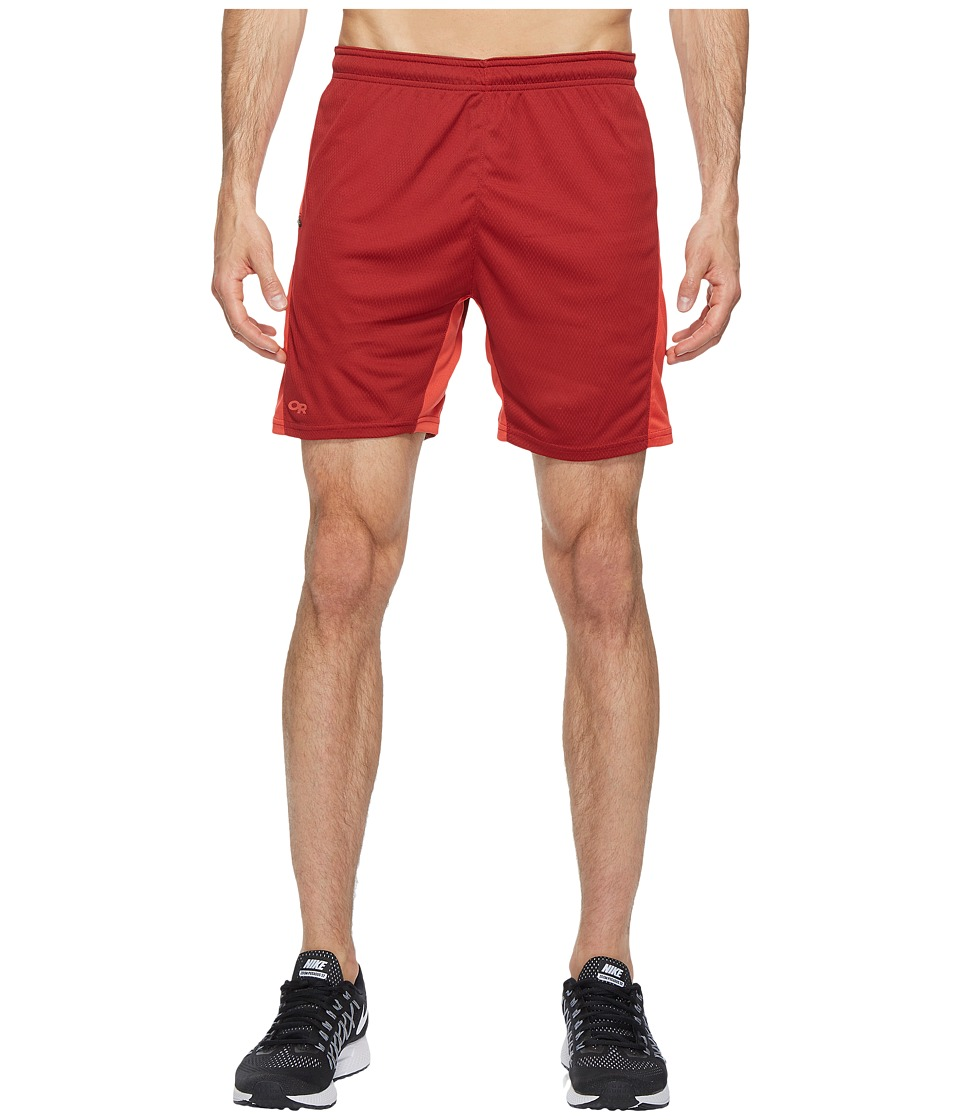 Outdoor Research Pronto Shorts (Redwood/Hot Sauce) Men