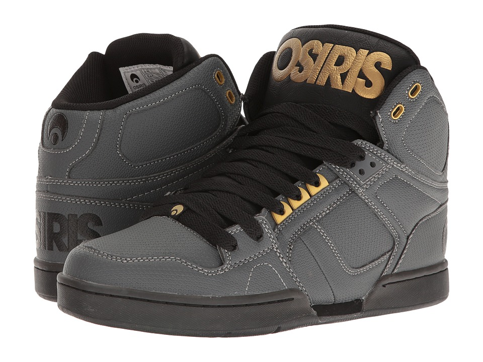 Osiris - NYC83 (Charcoal/Black/Gold) Men's Skate Shoes