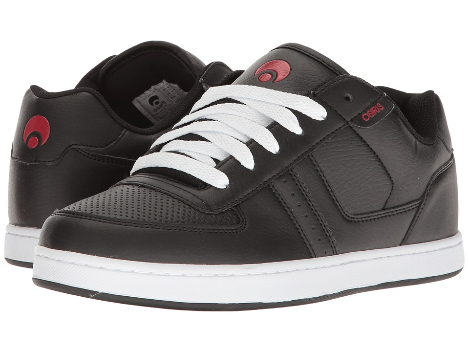 Osiris - Relic (Black/Charcoal/Red) Men's Skate Shoes