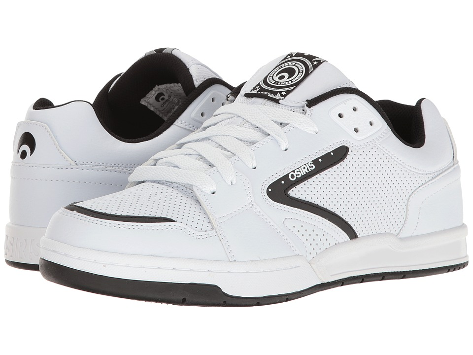 Osiris - Idem (White/Black/White) Men's Skate Shoes