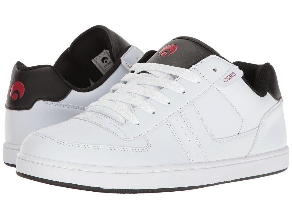 Osiris - Relic (White/Black/Red) Men's Skate Shoes