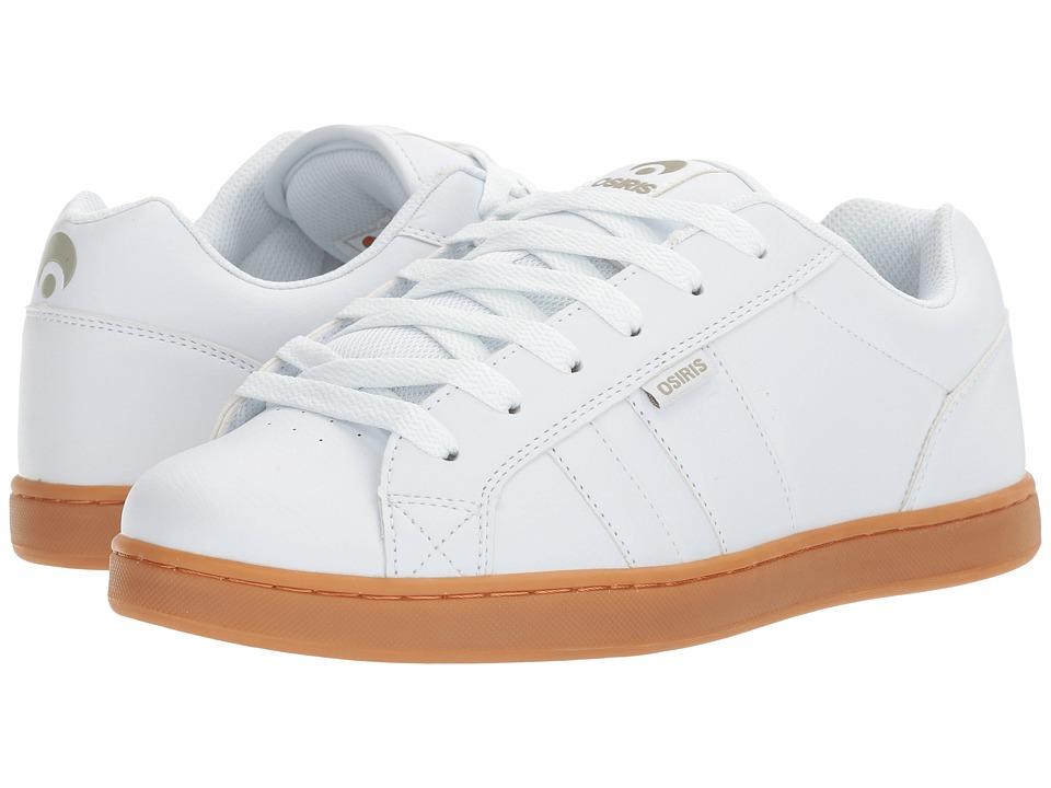 Osiris - Loot (White/Light Grey/Gum) Men's Skate Shoes