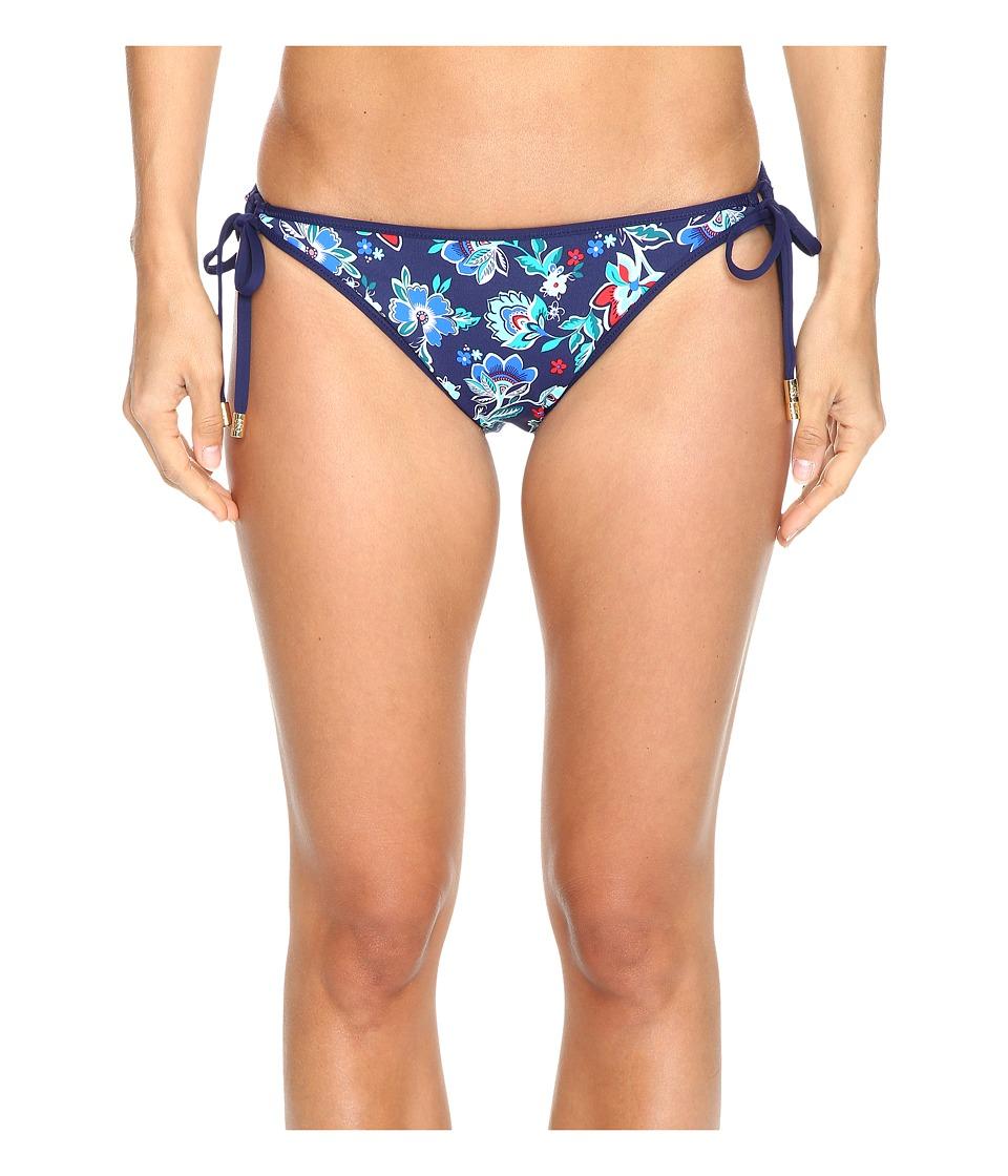 Tommy Bahama Folk Floral Reversible Loop-Tie Hipster Bikini Bottom (Mare Navy) Women