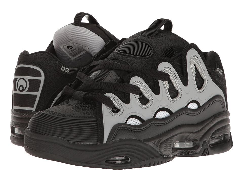 Osiris - D3 2001 (Black/White/Light Grey) Men's Skate Shoes