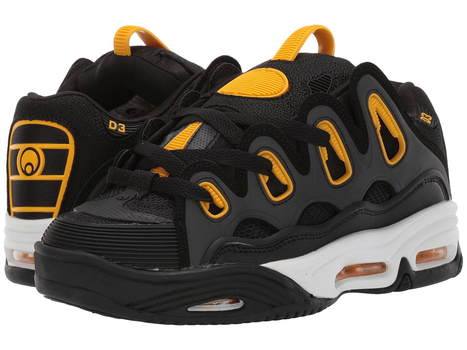 Osiris - D3 2001 (Black/White/Yellow) Men's Skate Shoes