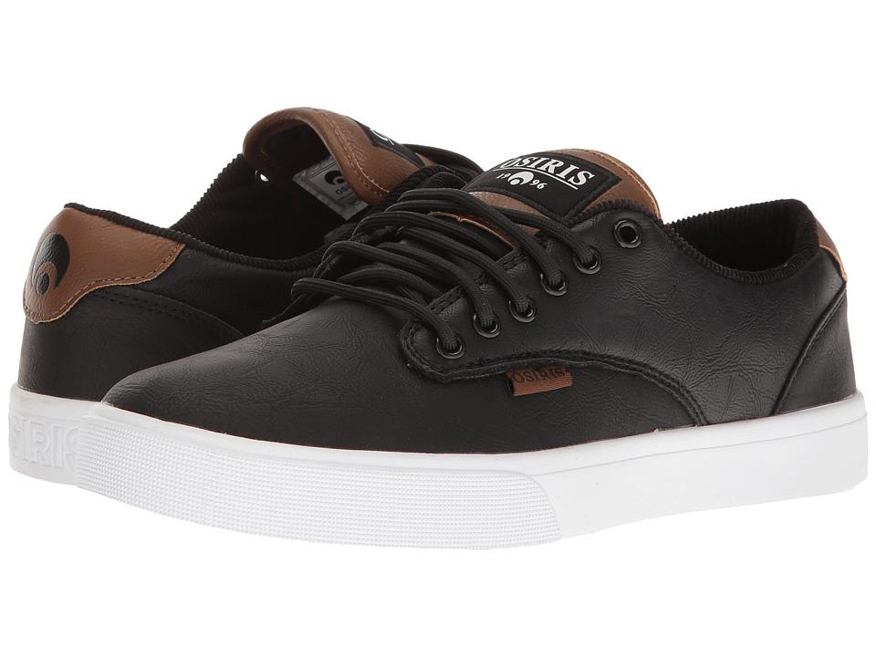 Osiris - Slappy VLC (Black/White/Brown) Men's Skate Shoes