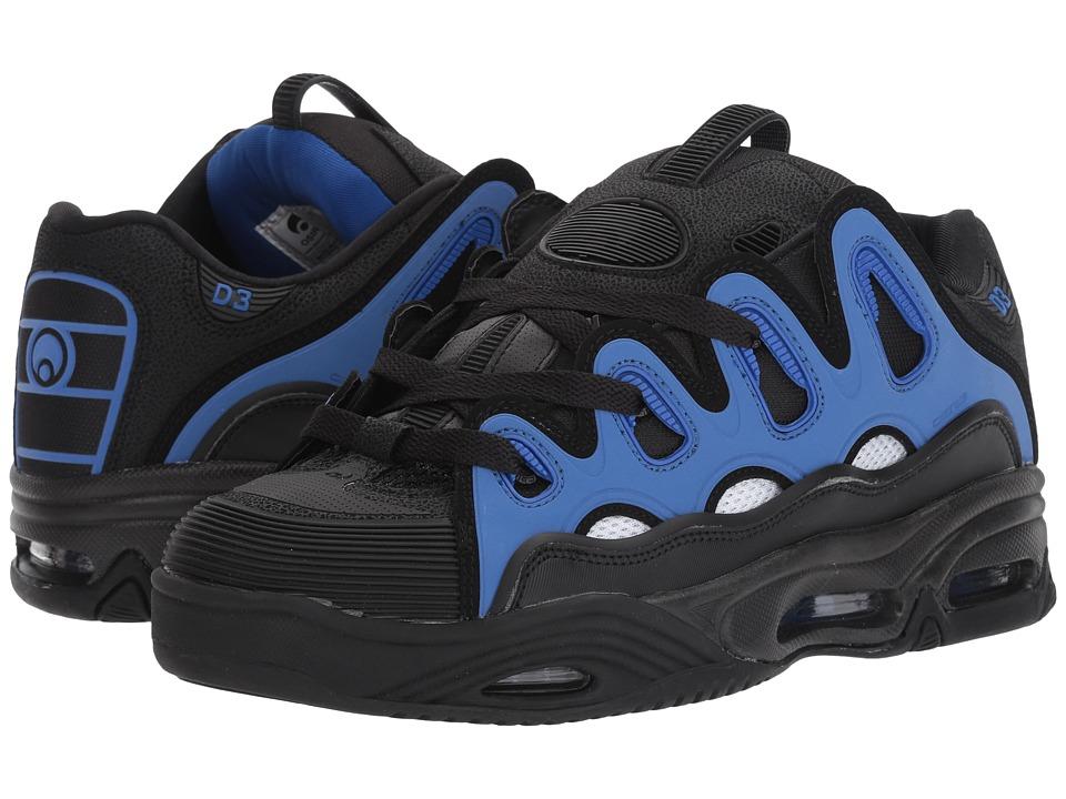 Osiris - D3 2001 (Black/White/Royal) Men's Skate Shoes