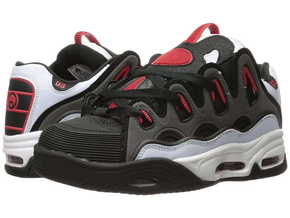 Osiris - D3 2001 (White/Black/Red) Men's Skate Shoes