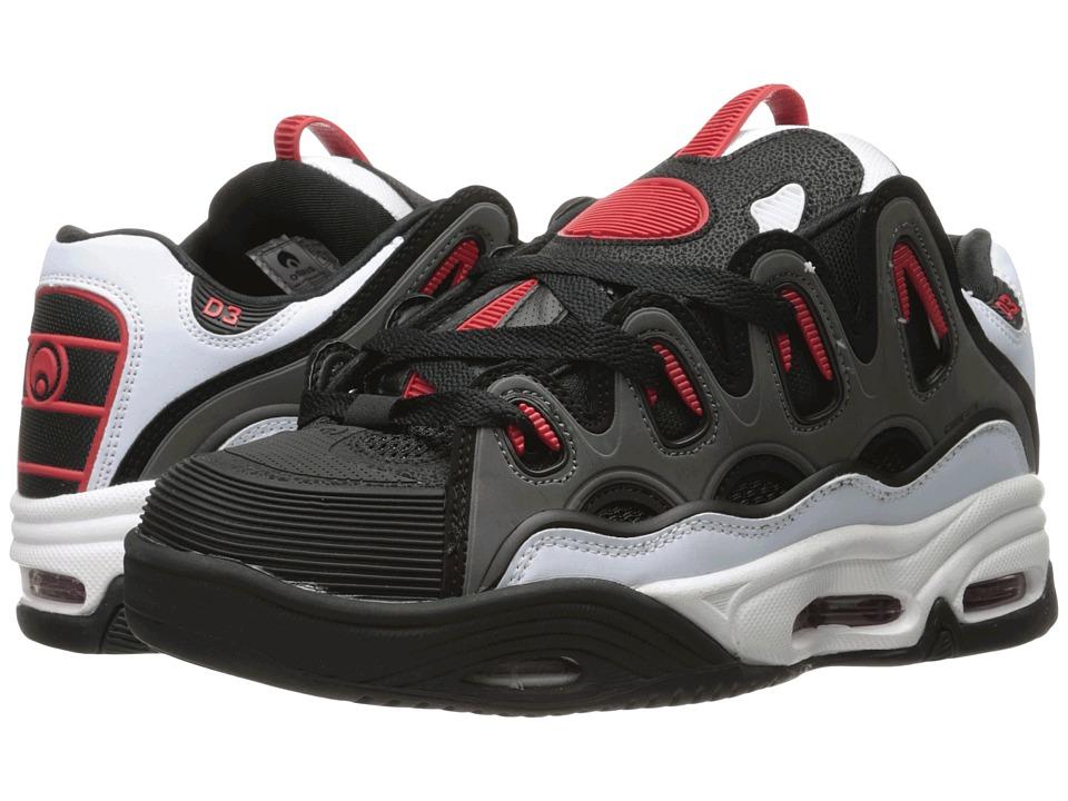 Osiris - D3 2001 (White/Black/Red) Men's Skate Shoes