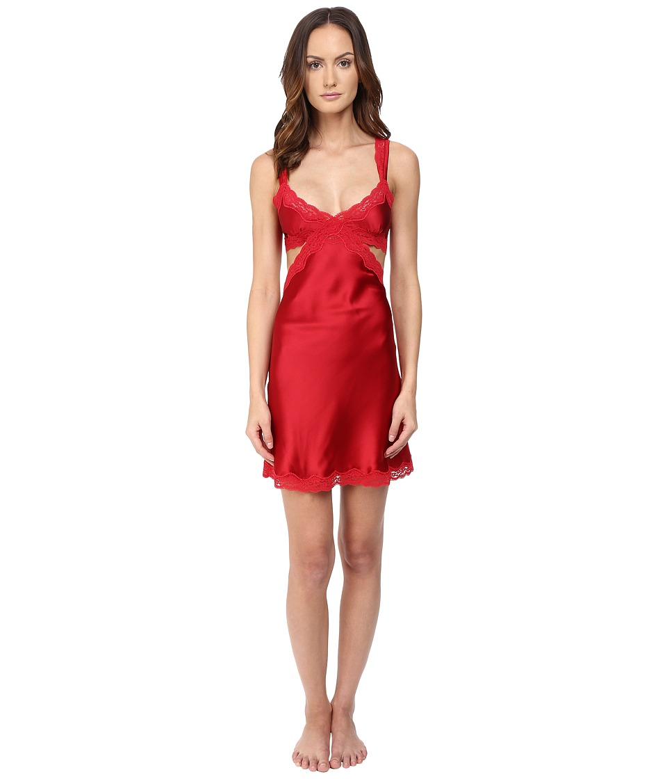 Stella McCartney - Clara Whispering Slip Chemise (Tango Red) Women's Lingerie