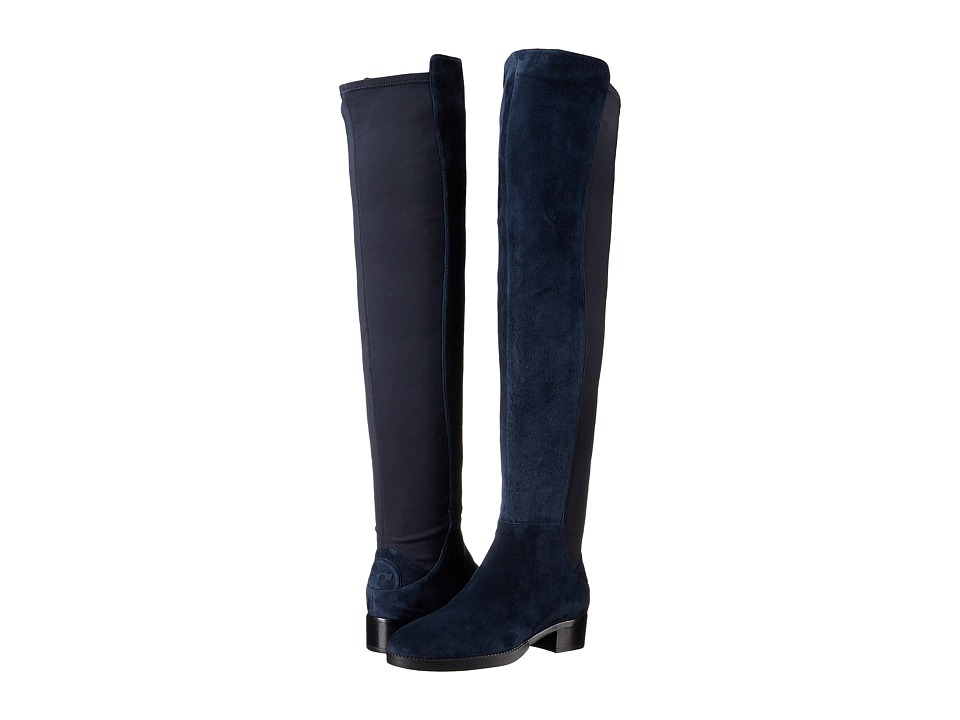 Tory Burch - Caitlin Stretch Over-The-Knee Boot (Royal Navy) Women's Boots