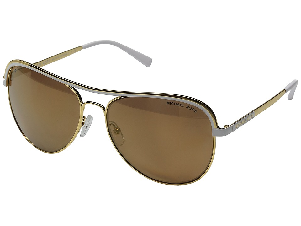 Michael Kors - 0MK1012 (Gold/White) Fashion Sunglasses