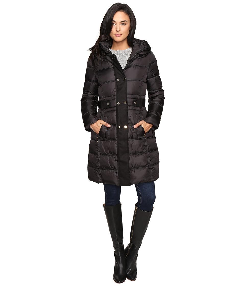Via Spiga - Fitted Puffer (Black) Women's Coat