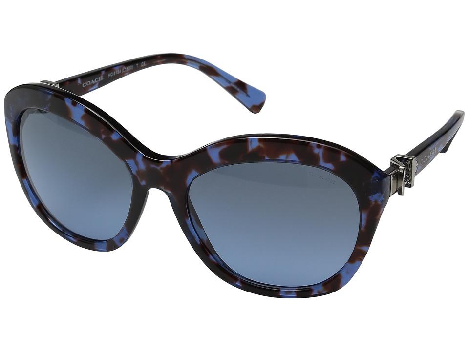 COACH - 0HC8184 (Blue Tortoise) Fashion Sunglasses