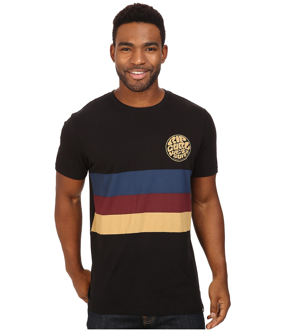Rip Curl - Vibrations Custom Tee (Black) Men's T Shirt