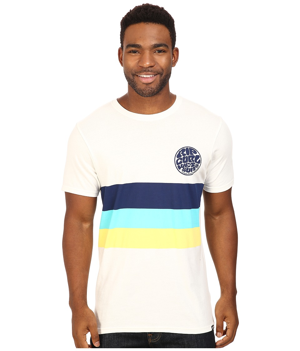 Rip Curl - Vibrations Custom Tee (Off-White) Men's T Shirt