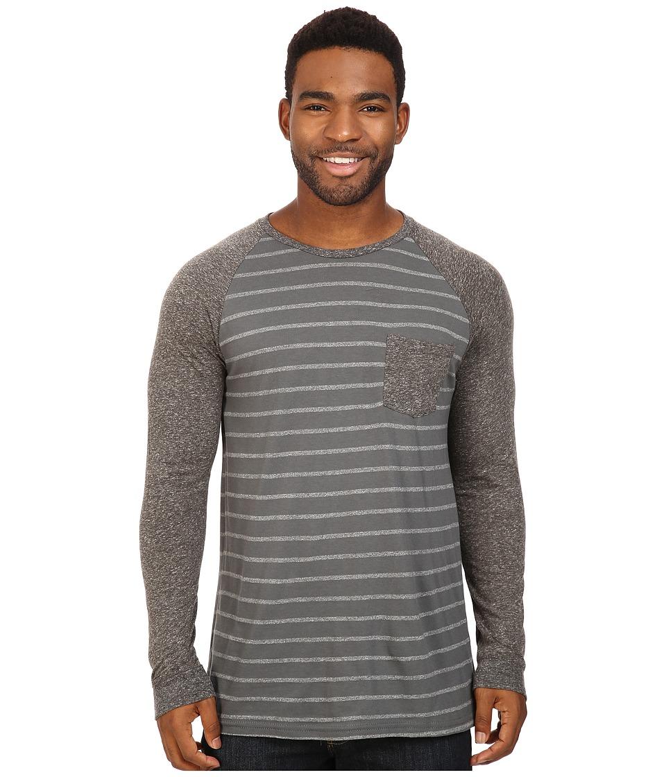 Rip Curl - Raglo Long Sleeve (Black) Men's Clothing