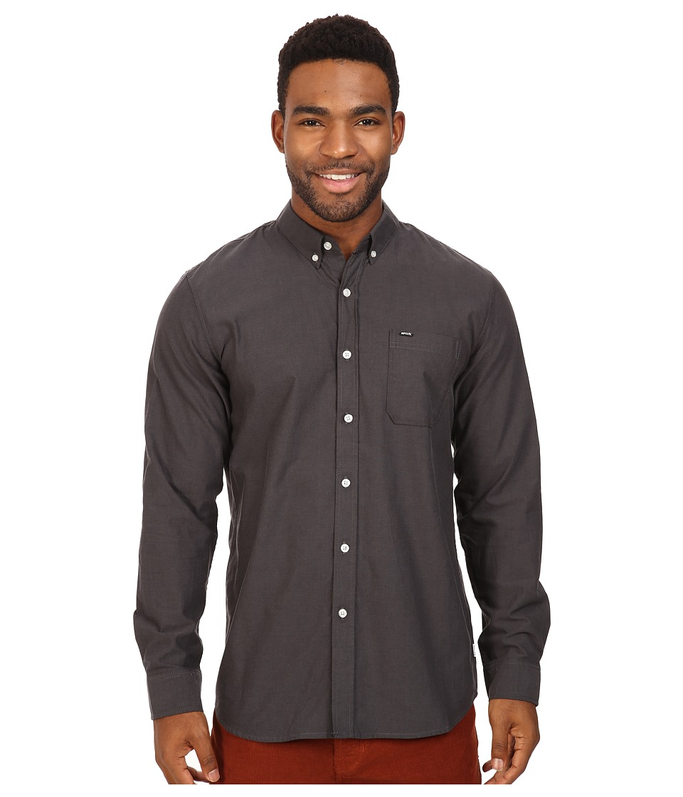 Rip Curl - Ourtime L/S Shirt (Black 1) Men's Long Sleeve Button Up