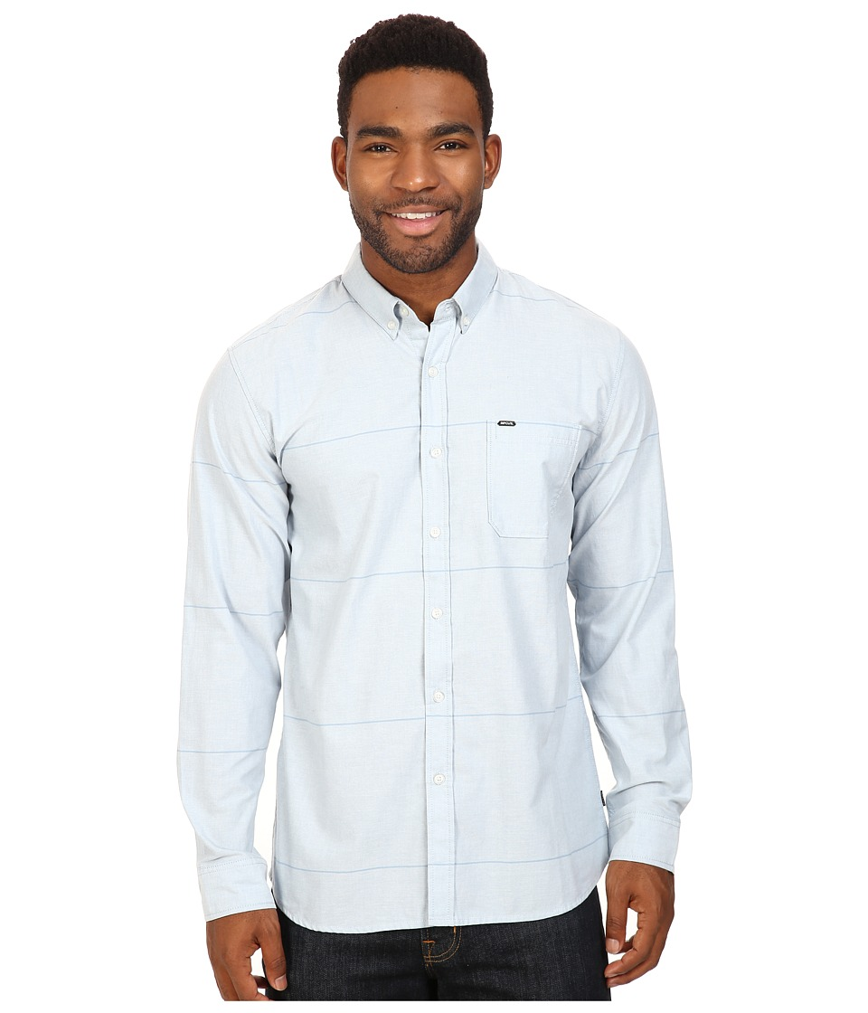 Rip Curl - Ourtime L/S Shirt (Blue) Men's Long Sleeve Button Up