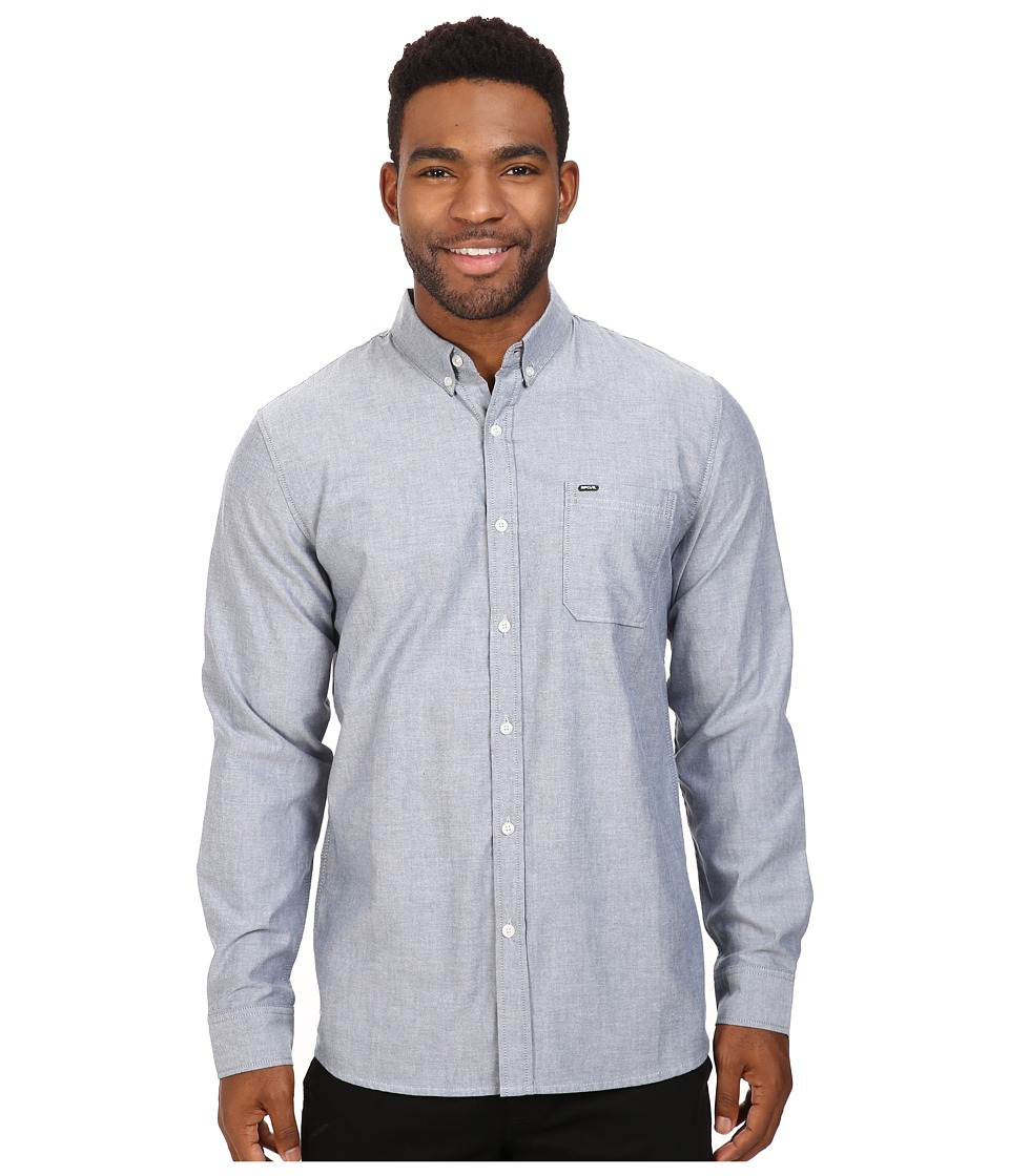 Rip Curl - Ourtime L/S Shirt (Insignia Blue) Men's Long Sleeve Button Up