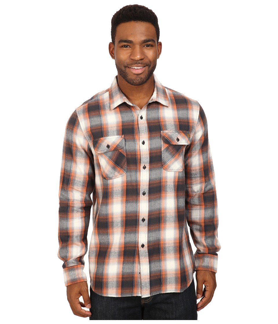Rip Curl - Zarco Long Sleeve Flannel (Charcoal) Men's Clothing