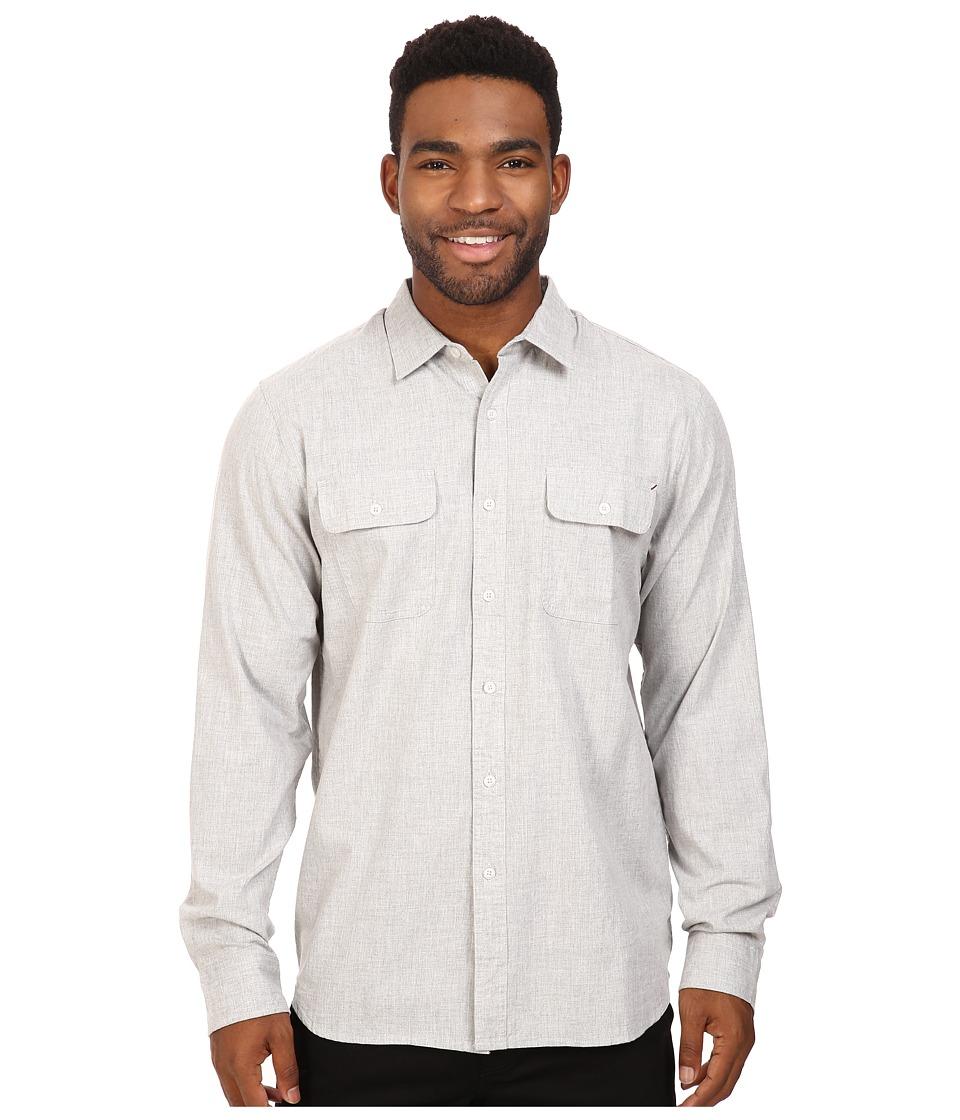Rip Curl - Nando Long Sleeve Flannel (Grey) Men's Clothing