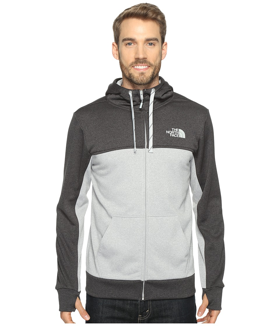 The North Face - Surgent Block Full Zip Hoodie (TNF Light Grey Heather/TNF Dark Grey Heather (Prior Season)) Men's Sweatshirt