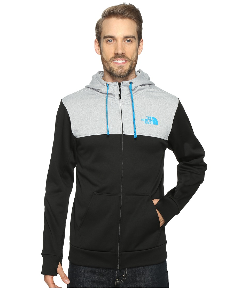 The North Face - Surgent Block Full Zip Hoodie (TNF Black/Hyper Blue (Prior Season)) Men's Sweatshirt