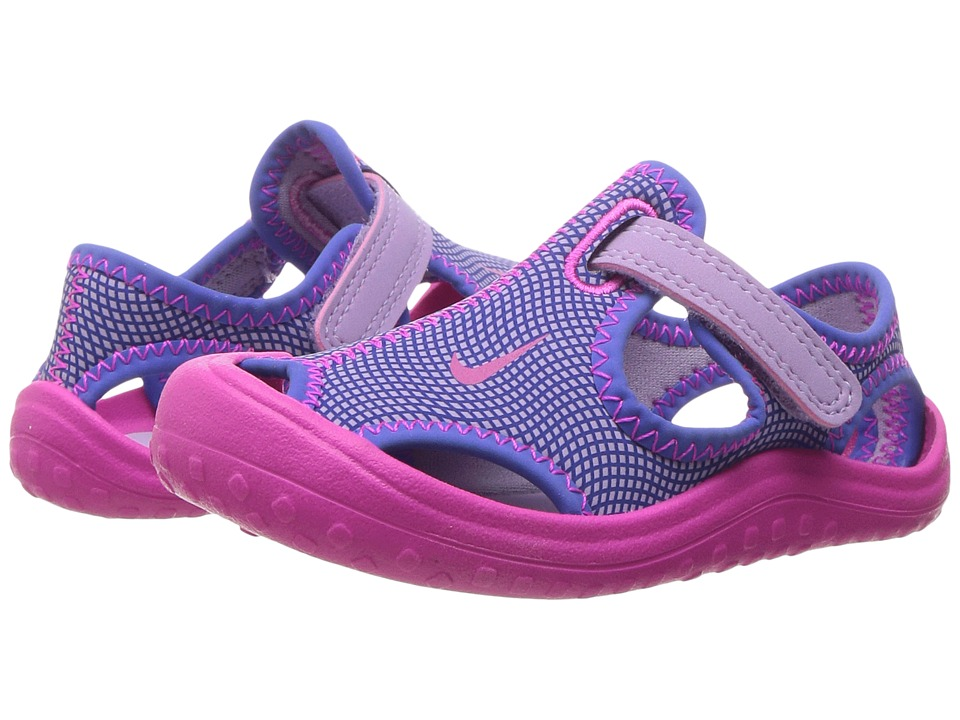 Nike Kids - Sunray Protect (Infant/Toddler) (Hydrangeas/Fire Pink/Comet Blue) Girls Shoes