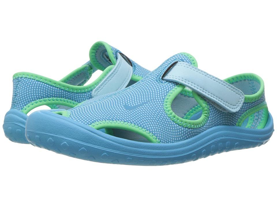 Nike Kids Sunray Protect (Little Kid) (Still Blue/Chlorine Blue/Electro Green) Girls Shoes