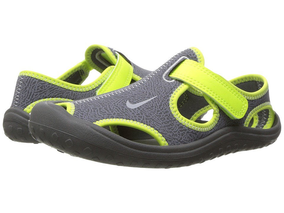 Nike Kids - Sunray Protect (Little Kid) (Dark Grey/Wolf Grey/Volt) Boy's Shoes