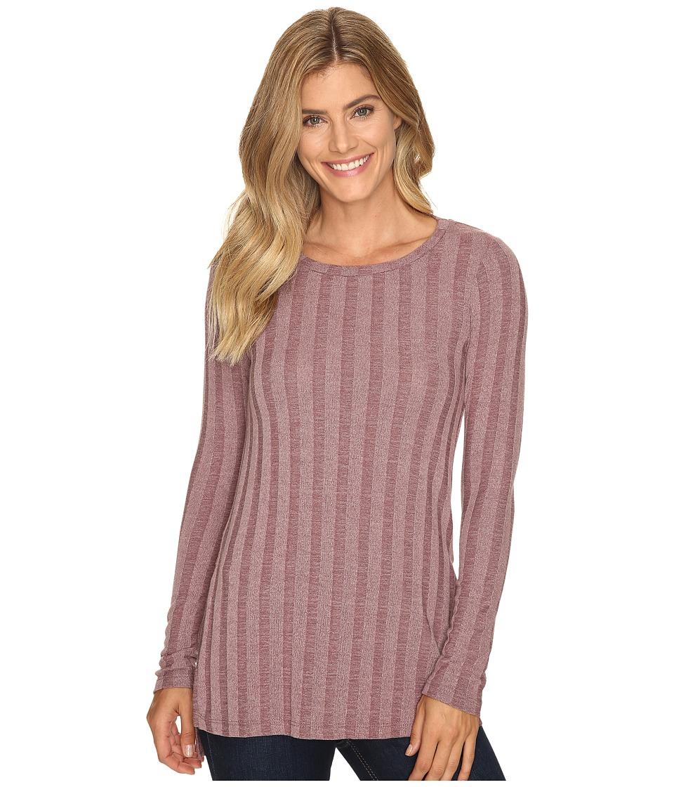 B Collection by Bobeau - Alex Rib Knit Tee Shirt (Raisin) Women's T Shirt