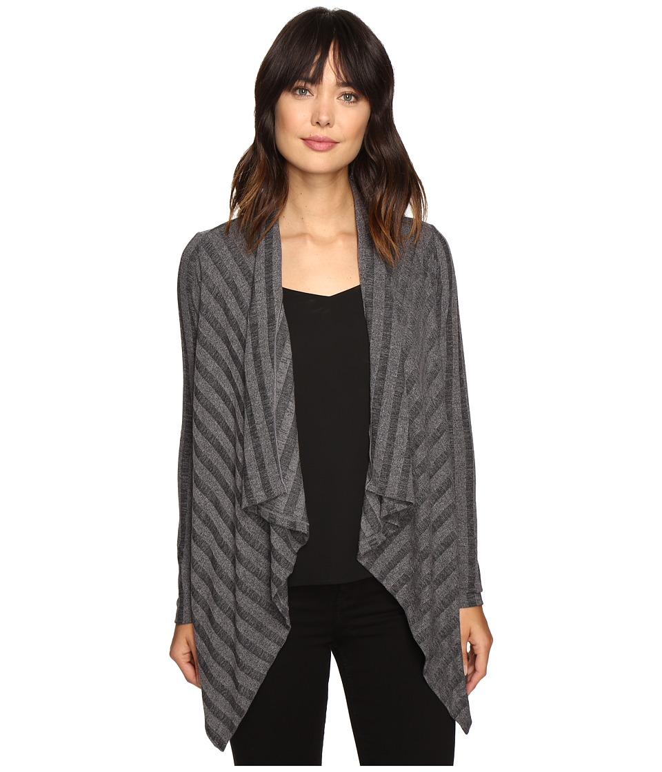B Collection by Bobeau - Simone Rib Knit Cardi (Charcoal Grey) Women's Sweater