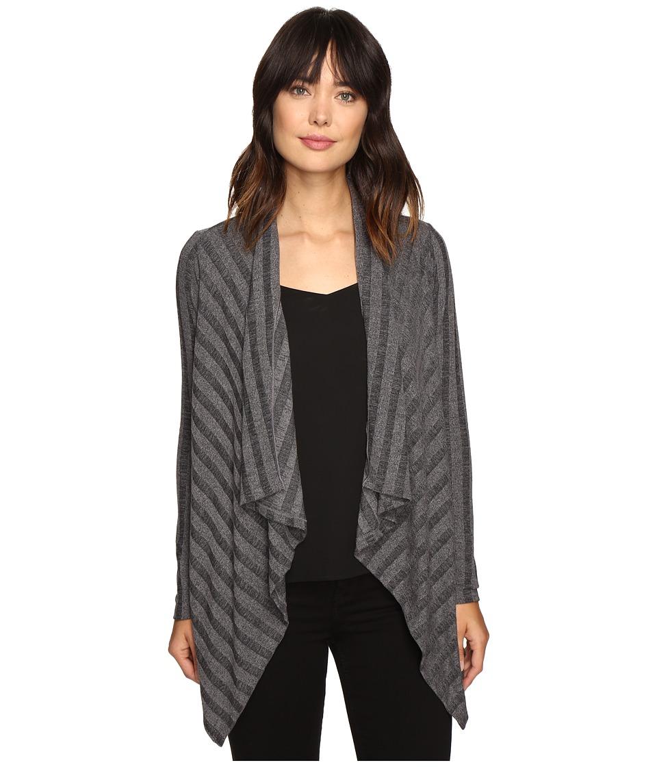 B Collection by Bobeau - Simone Rib Knit Cardi (Charcoal Grey) Women's Sweater