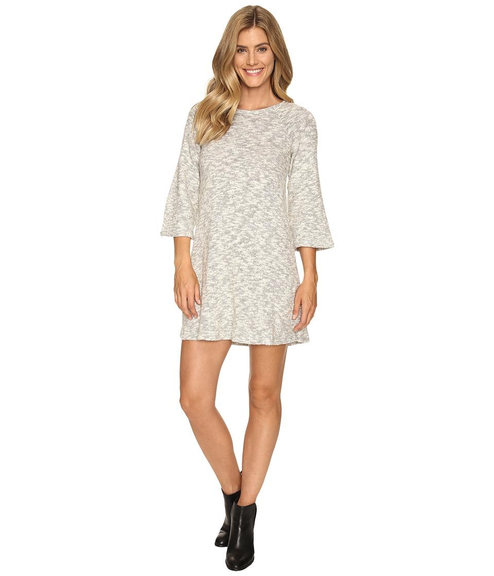 B Collection by Bobeau Nina Brushed Knit Dress (Grey Mix) Women